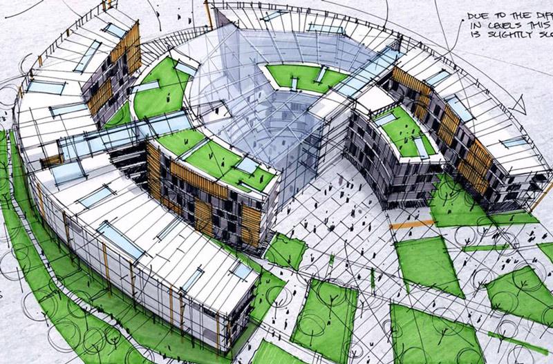 Architecture sketching - ۱۰ نکته برای طراحی اسکیس معماری
