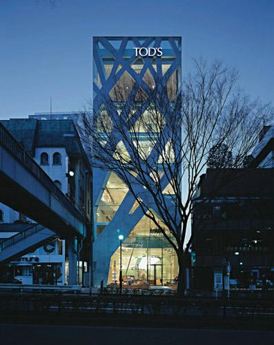 Tod's  shop - نورپردازی ویترین مغازه هایمد و پوشاک