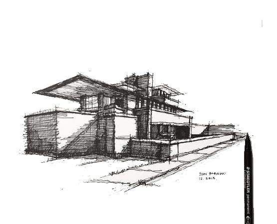 architectural sketch 1 - مهارت در اسکیس معماری