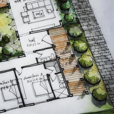 architectural sketch 10 - مهارت در اسکیس معماری