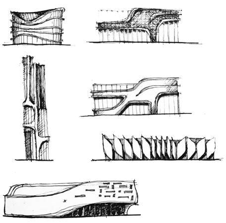 architectural sketch 3 - مهارت در اسکیس معماری