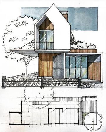 architectural sketch 4 - مهارت در اسکیس معماری