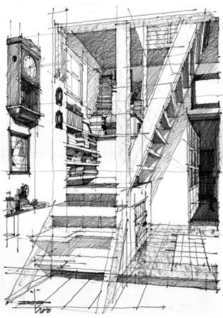 architectural sketch 5 - مهارت در اسکیس معماری