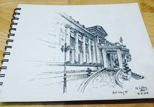 architectural sketch 6 - مهارت در اسکیس معماری