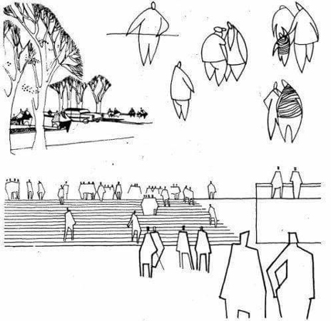 architectural sketch 9 - مهارت در اسکیس معماری
