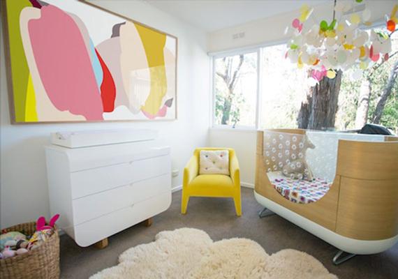 baby room 5 - چند ایده شیک برای دکوراسیون اتاق نوزاد