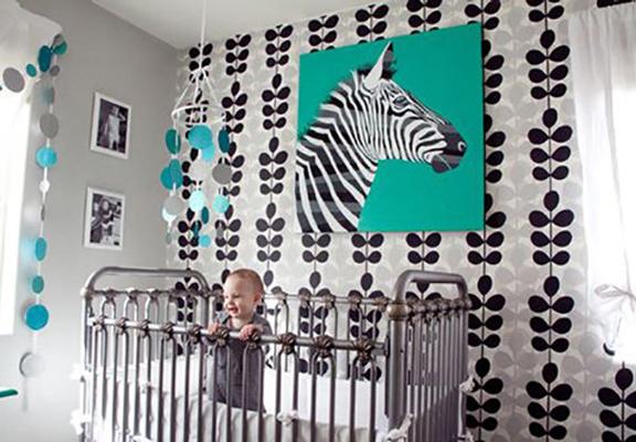 baby room 6 - چند ایده شیک برای دکوراسیون اتاق نوزاد
