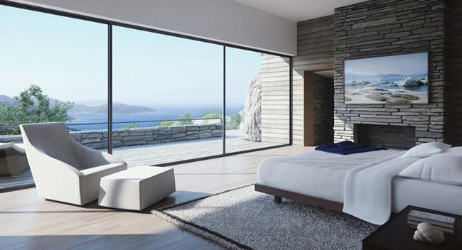 bedroom with view - دکوراسیون اتاق خواب