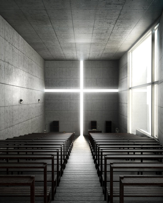 church of light - تاریخچه نور پردازی