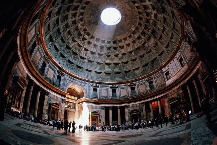 pantheon april - تاریخچه نور پردازی