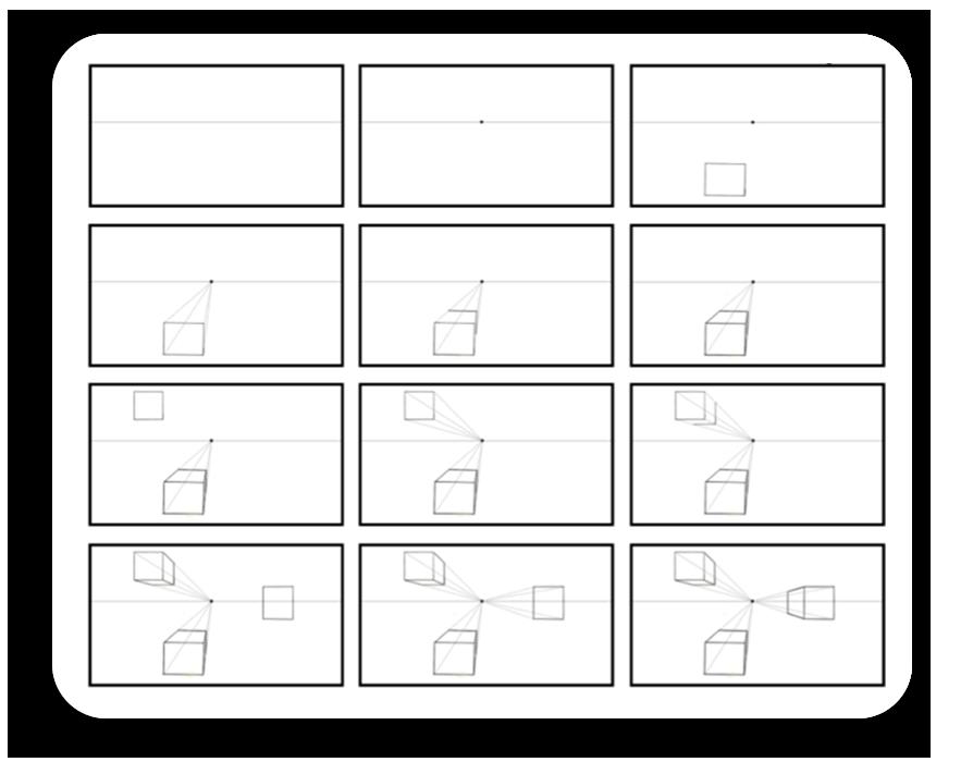 practice 1 - پرسپکتیو تک نقطه ای ، پرسپکتیو یک نقطه ای