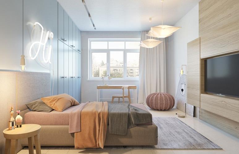 yellow blue room 2 - طراحی اتاق خواب کودک شیک