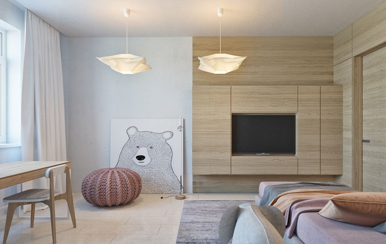 yellow blue room 3 - طراحی اتاق خواب کودک شیک