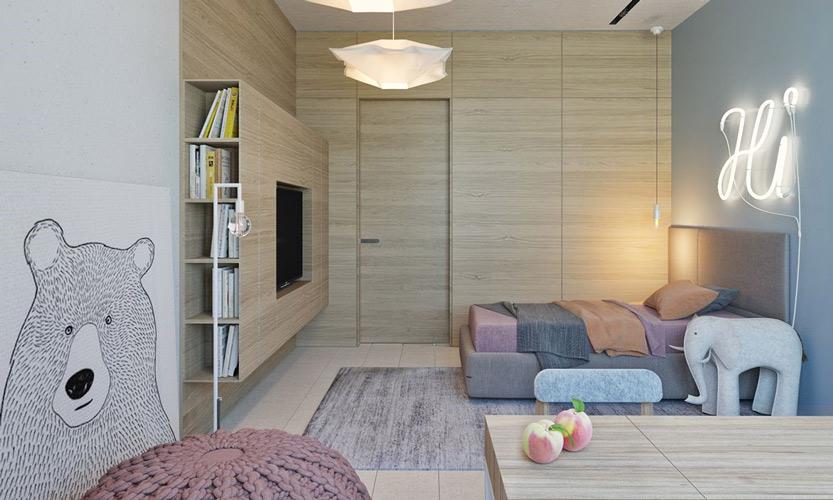 yellow blue room 4 - طراحی اتاق خواب کودک شیک