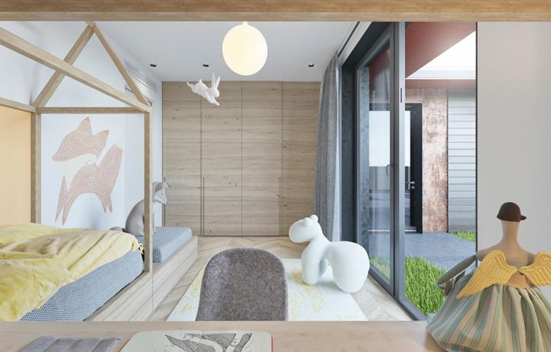 yellow blue room 7 - طراحی اتاق خواب کودک شیک