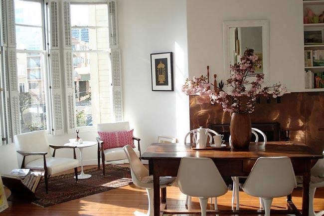 Eclectic dining room - اتاق ناهار خوری