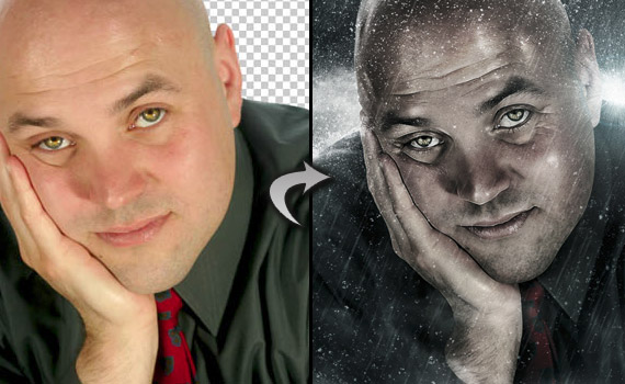 cinematic portrait photo effect photoshop tutorial - کلاس فتوشاپ