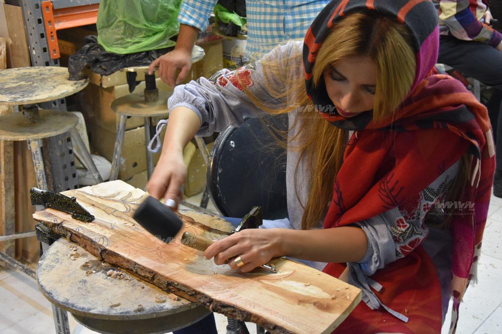 هنرجوی خلاقیت با چوب