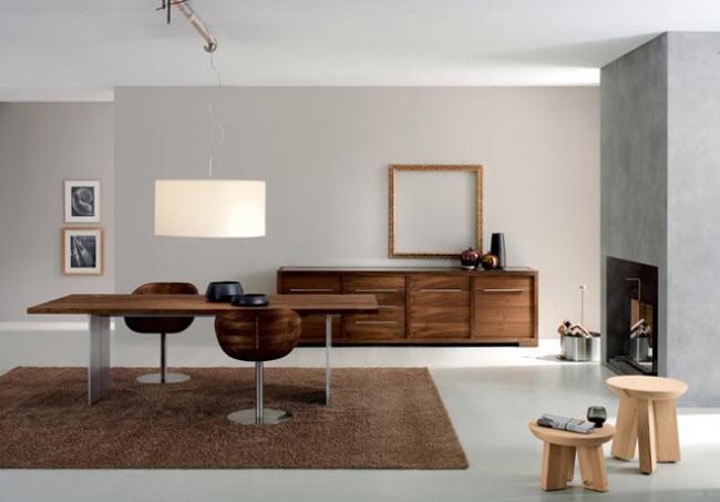 minimal dining room - اتاق ناهار خوری