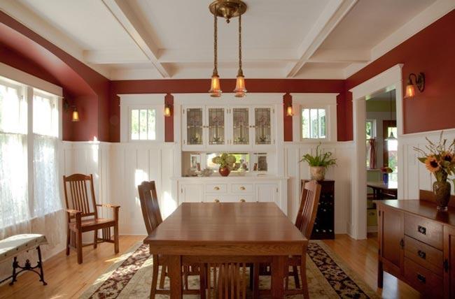 red dining room - اتاق ناهار خوری