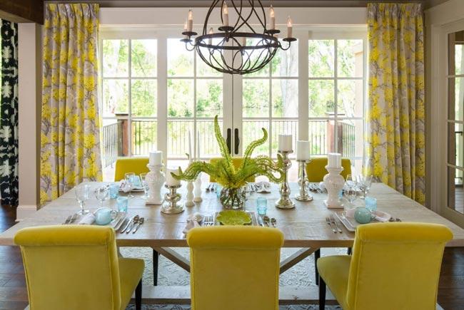 yellow dining room - اتاق ناهار خوری
