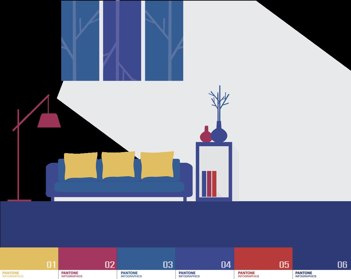Pantone color picking art - ویژگی های رنگ در طراحی داخلی و اثرات روانی و فیزیولوژیکی آنها