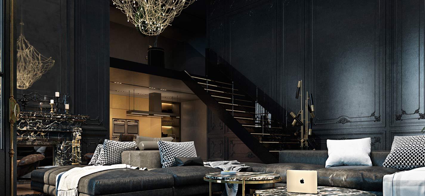 black room 1 - ویژگی های رنگ در طراحی داخلی و اثرات روانی و فیزیولوژیکی آنها