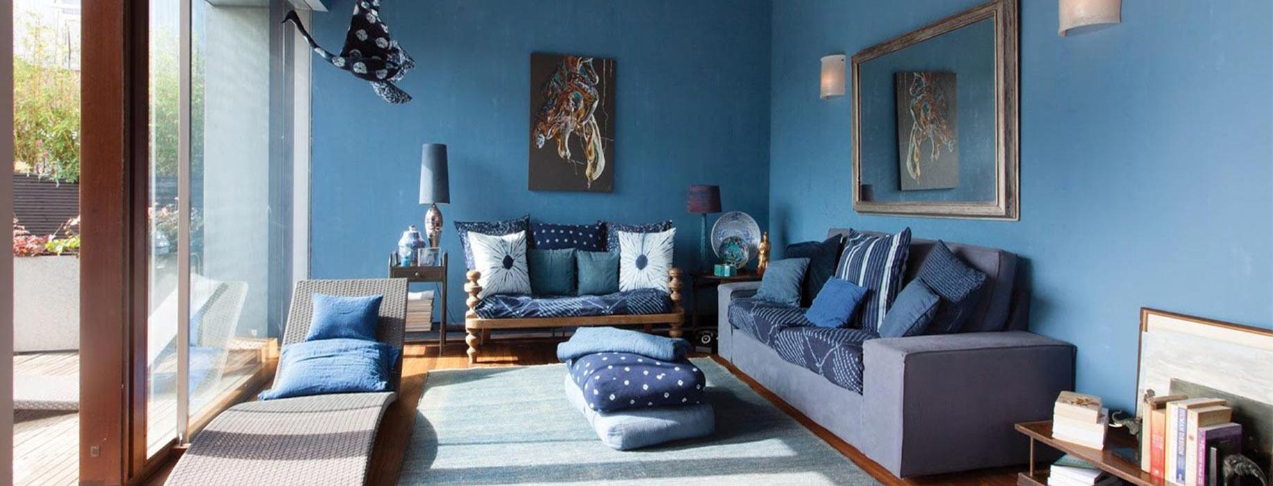 blue room 1 - ویژگی های رنگ در طراحی داخلی و اثرات روانی و فیزیولوژیکی آنها