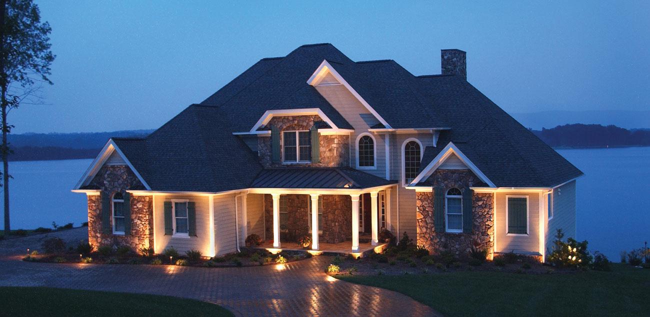 catchy home exterior lighting - نورپردازی خارج ساختمان : بایدها و نبایدها: