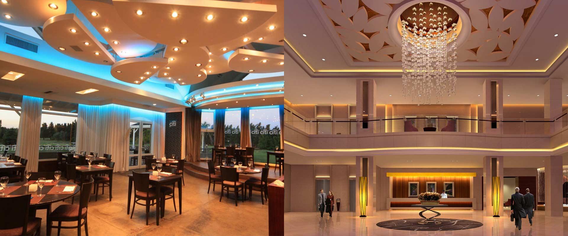 نورپردازی رستوران و هتل