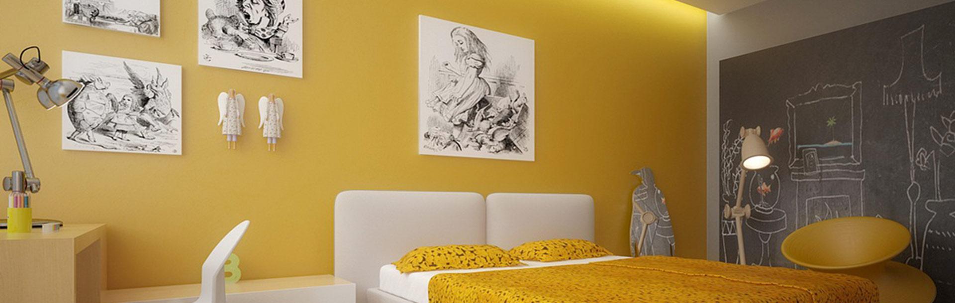 yellow room - ویژگی های رنگ در طراحی داخلی و اثرات روانی و فیزیولوژیکی آنها