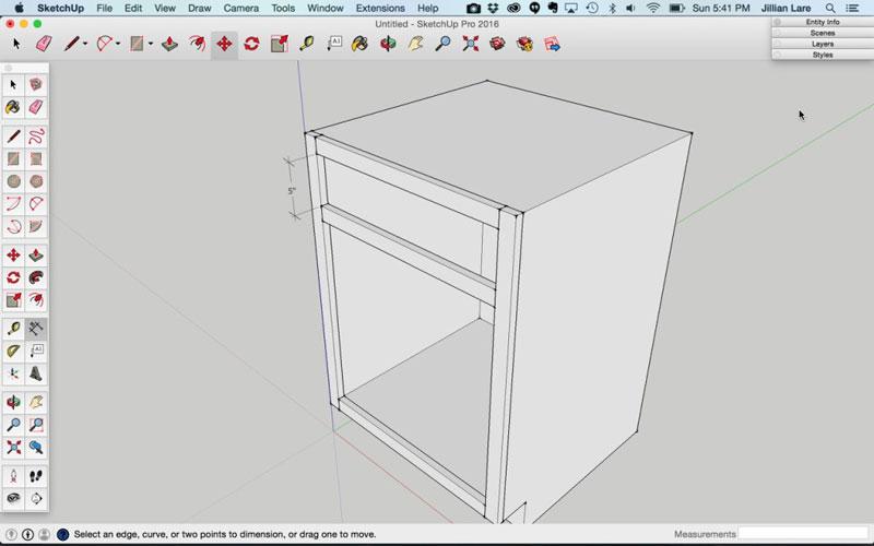 Build_Basic_Kitchen_Cabinet_sketchup_11
