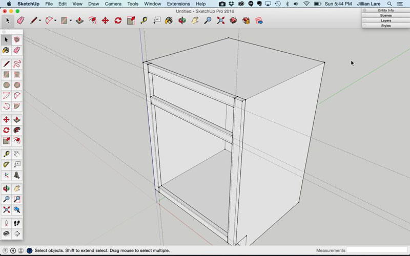 Build_Basic_Kitchen_Cabinet_sketchup_12