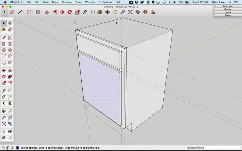 Build_Basic_Kitchen_Cabinet_sketchup_15