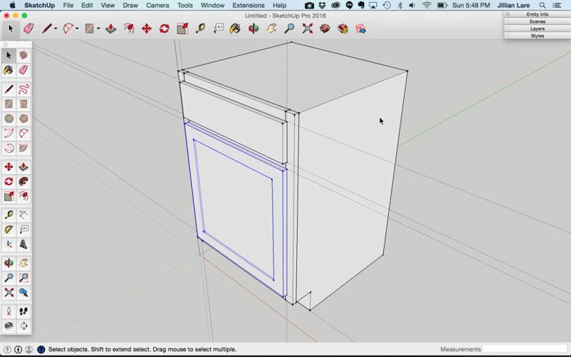 Build_Basic_Kitchen_Cabinet_sketchup_16