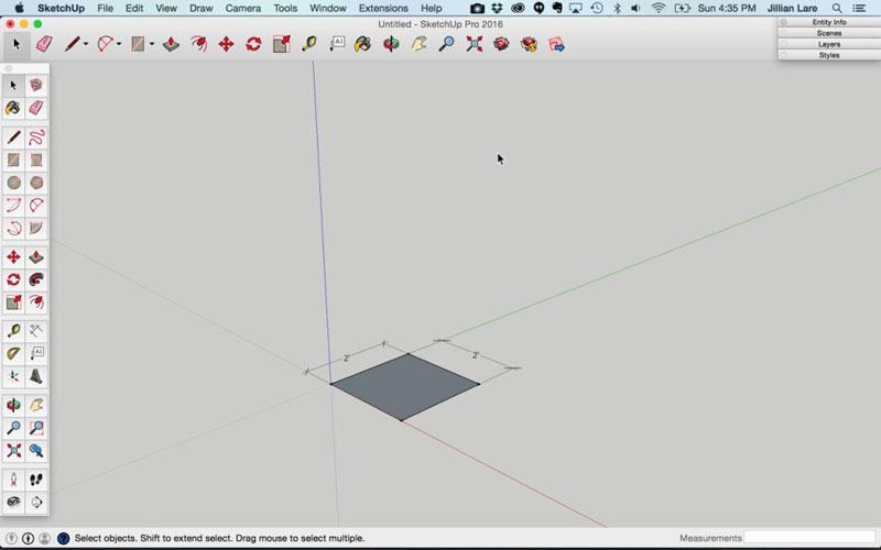 Build_Basic_Kitchen_Cabinet_sketchup_2
