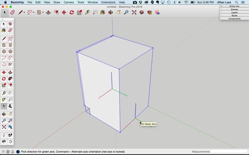 Build_Basic_Kitchen_Cabinet_sketchup_20