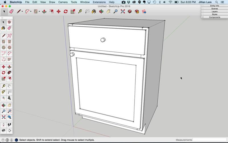 Build_Basic_Kitchen_Cabinet_sketchup_21