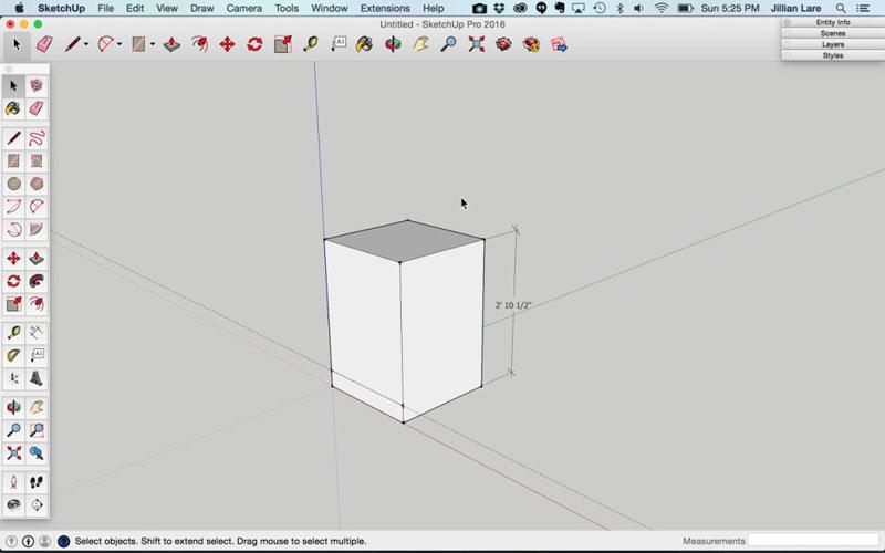 Build_Basic_Kitchen_Cabinet_sketchup_4