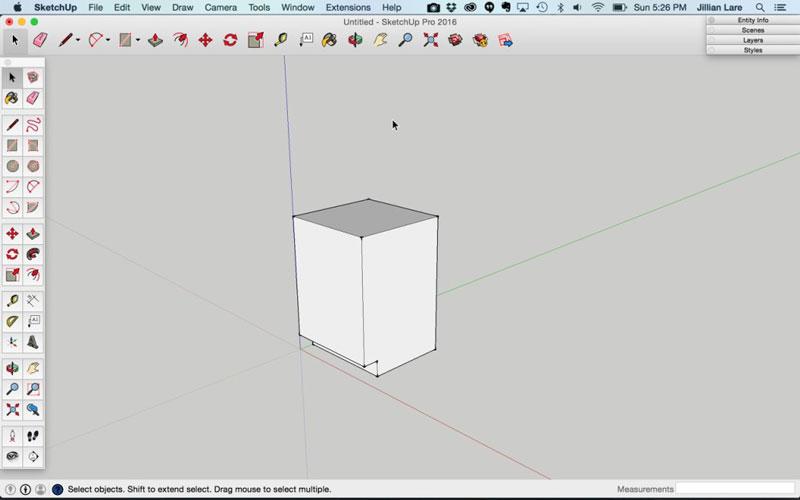 Build_Basic_Kitchen_Cabinet_sketchup_5