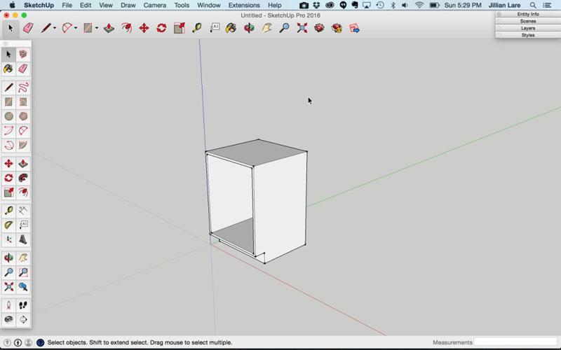Build_Basic_Kitchen_Cabinet_sketchup_6