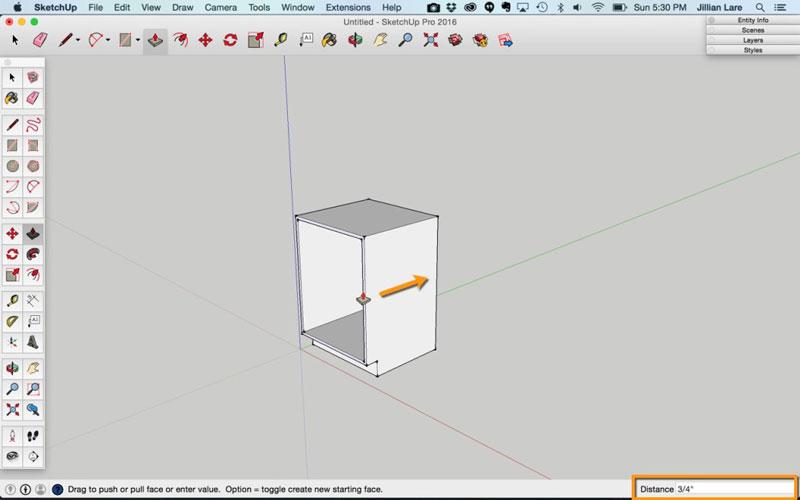 Build_Basic_Kitchen_Cabinet_sketchup_7