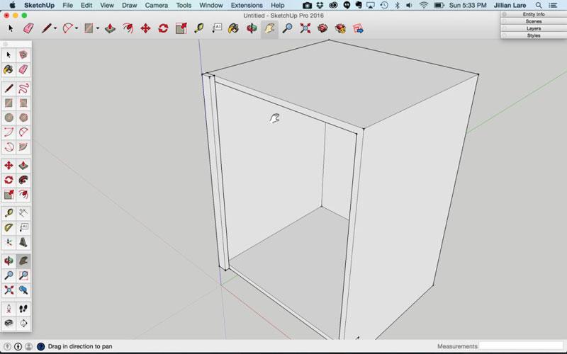 Build_Basic_Kitchen_Cabinet_sketchup_8