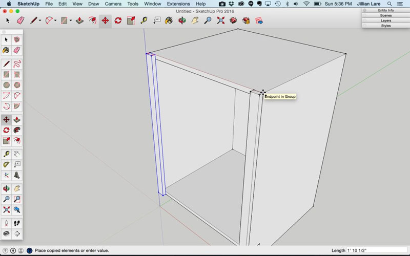 Build_Basic_Kitchen_Cabinet_sketchup_9