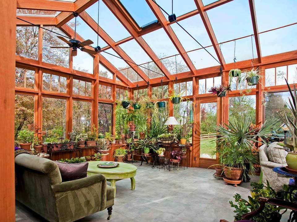 Amazing Conservatory Greenhouse - جزئیات مربوط به اجزای فضاهای داخلی