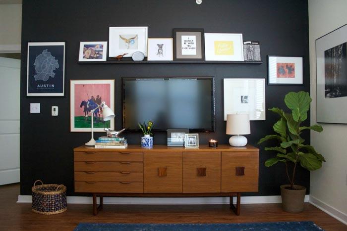 TV wall Gallery - ایدهها و نکاتی دربارهی محل قرار گیری و دکور تلویزیون