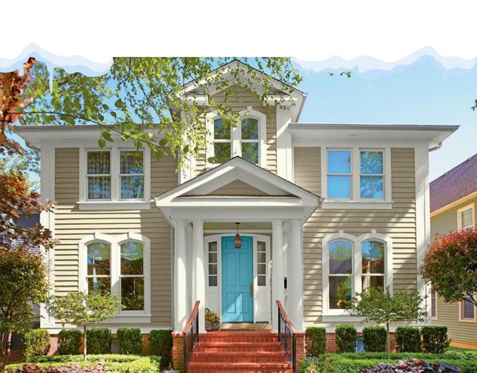 coloring outdoor the house - کارهایی که با تمام شدن زمستان باید به منظور نگهداری ویلا انجام دهید
