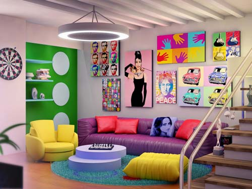 contrast to the wall using paintings - پنج نکتهی مفید برای انتخاب تابلو در دکوراسیون