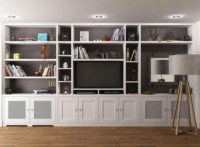 full wall storage tv - ایدهها و نکاتی دربارهی محل قرار گیری و دکور تلویزیون
