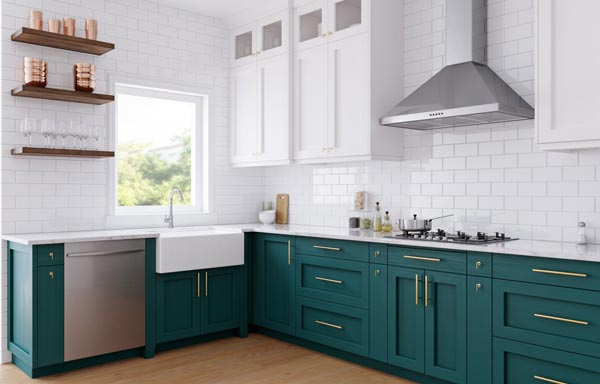 green kitchen 3d model - طراحی کابینت با تری دی مکس